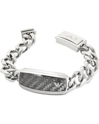 Emporio Armani - Men's Stainless Steel Chunky Chain Bracelet - Lyst