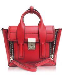 3.1 Phillip Lim - Scarlet Leather Pashli Mini Satchel Bag - Lyst