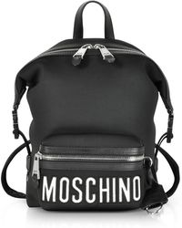 Moschino - Nylon And Leather Backpack - Lyst