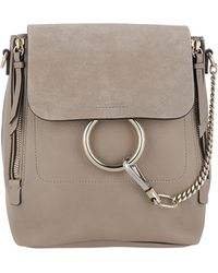 Chloé - Faye Grey Backpack - Lyst