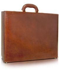 Chiarugi - Men's Handmade Brown Leather Attache Briefcase - Lyst