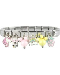 Nomination Rainbow Beads Sterling Silver & Stainless Steel Bracelet - Metallic