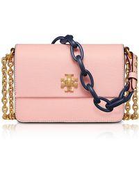 Tory Burch - Kira Opulent Pink Leather Mini Shoulder Bag - Lyst