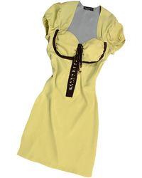 Hafize Ozbudak - Pistachio & Brown Trim Silk Short Sleeve Tunic - Lyst