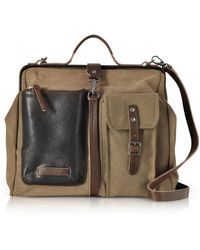 The Bridge - Carver-d Canvas Doctor Bag W/leather Front Pocket - Lyst