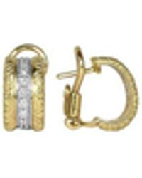 Torrini - Mini-denise - 18k Yellow Gold Diamond Earrings - Lyst