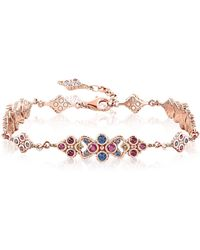 Thomas Sabo - 18k Rose Gold Plated Sterling Silver Royalty Colorful Stones Bracelet - Lyst