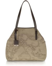 Alviero Martini 1A Classe - Geo Printed Large 'new Basic' Shoulder Bag - Lyst