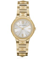 Karl Lagerfeld - Joleigh Goldtone Iconic Women's Watch - Lyst