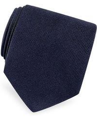 FORZIERI - Solid Twill Silk Tie - Lyst