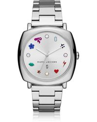 Marc Jacobs - Mandy Silver Tone Women's Watch - Lyst