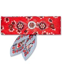 Tory Burch - Floral Print Embellished Cotton Bandana Necktie - Lyst