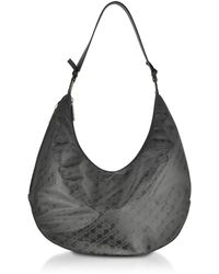 Gherardini - Signature Coated Canvas And Leather Softy Shoulder Bag - Lyst