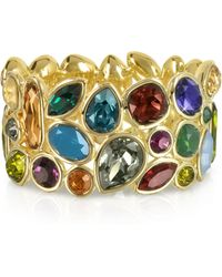 FORZIERI - Multicolour Crystal And Metal Bangle - Lyst