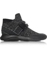 Christopher Kane - Htop No Toe E Black & Silver Sneaker - Lyst