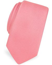 FORZIERI - Solid Twill Silk Narrow Tie - Lyst