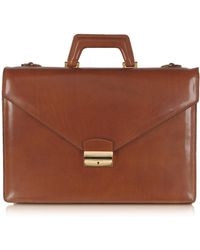 L.A.P.A. - Double Gusset Leather Briefcase - Lyst