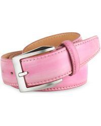Pakerson - Men's Pink Hand Painted Italian Leather Belt - Lyst