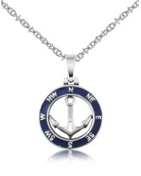 Forzieri | Stainless Steel Anchor Pendant Necklace | Lyst