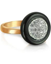 Azhar - White Cubic Zirconia Silver Vermeil Ring - Lyst