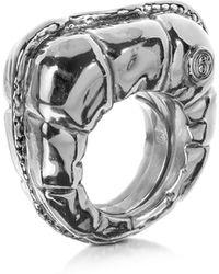 MM6 by Maison Martin Margiela - Logo Detail Copper Women's Ring - Lyst