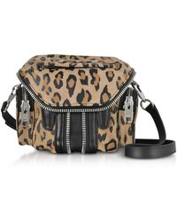 Alexander Wang - Leopard Print Zipped Crossbody Bag - Lyst