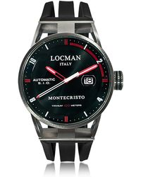 LOCMAN - Montecristo Stainless Steel & Titanium Automatic Men's Watch W/silicone Strap - Lyst