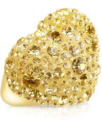 Gisèle St.moritz - Fantasmania - Gold Crystal Big Heart Ring - Lyst