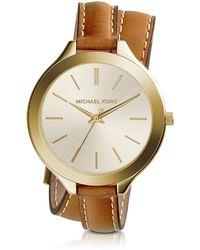 Michael Kors - Slim Runway Double-wrap Women's Watch - Lyst