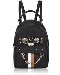 Furla - Black Favola Mini Backpack W/studs - Lyst