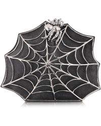 Bernard Delettrez - Black Ponyhair Clutch W/web And Spider - Lyst