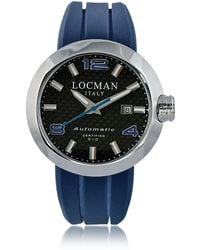 LOCMAN | Change Stainless Steel Round Case Automatic Men's Watch W/ Silicone & Leather Straps | Lyst