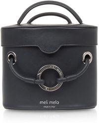 meli melo - Nancy Black Leather Cylindrical Bag - Lyst