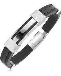 FORZIERI - Rubber And Stainless Steel Bracelet - Lyst