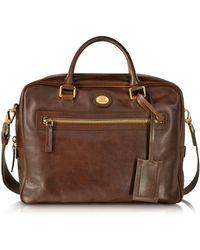 The Bridge - Story Uomo Dark Brown Leather Briefcase - Lyst