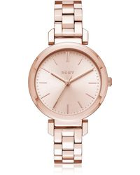 DKNY - Ellington Rose Gold Tone Women's Watch - Lyst