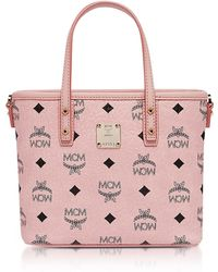MCM - Anya Soft Pink Top Zip Mini Shopping Bag - Lyst