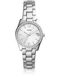 Fossil - Scarlette Three-hand Date Stainless Steel Women's Watch - Lyst