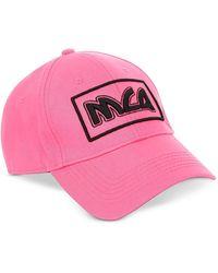McQ - Neon Pink Metal Logo Cotton Baseball Cap - Lyst