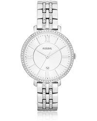 2f2dfb2573c Fossil Am4509 Female Silver Watch - For Women in Metallic - Lyst
