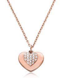 Michael Kors - Kors Pavé Love Women's Necklace - Lyst