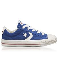 Converse - Blue Star Player Distressed Ox Canvas Men's Trainers - Lyst