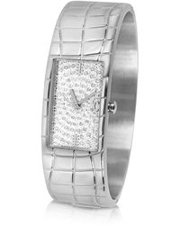 Just Cavalli - Circum - Silvered Dial Stainless Steel Large Cuff Watch - Lyst