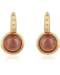 Mia & Beverly - Garnet And Diamond 18k Rose Gold Earrings - Lyst