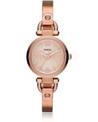 Fossil - Georgia Mini Rose Tone Women's Watch - Lyst