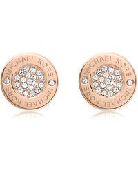 Michael Kors - Heritage Pave Stud Earrings - Lyst