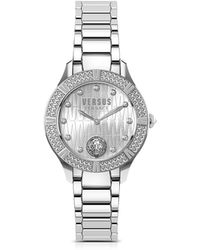 Versus - Canton Road Silver Stainless Steel Women's Bracelet Watch W/crystals - Lyst
