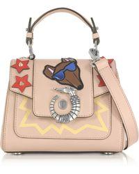 Trussardi | Lovy Joy Natural Leather Mini Crossbody Bag W/emoticon Embroidery | Lyst