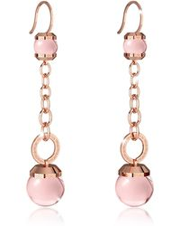 Rebecca - Women's Pink Steel Earrings - Lyst