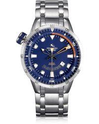 Strumento Marino - Warrior Stainless Steel Men's Watch W/blue Dial - Lyst